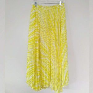 Soft Surroundings Pleated Maxi Skirt Striped